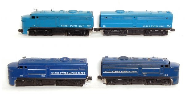 1020: Lionel 212 Marine Corps A-A and 224 Navy A-B Alco