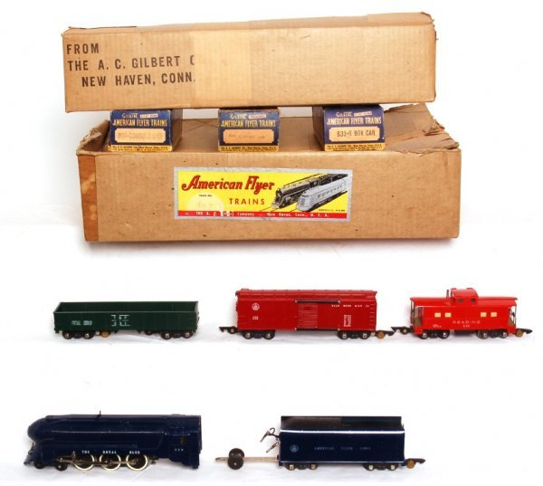 1021: American Flyer 48T steam freight set 350