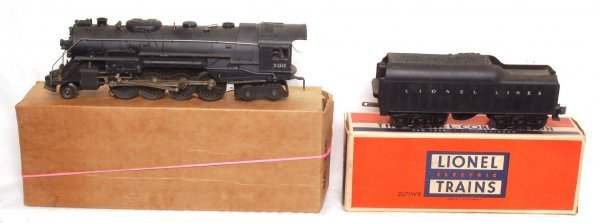 12: Lionel 736 steam loco with 2671W tender, OB