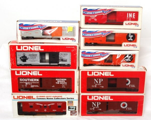 420: Lionel nine pieces of rolling stock in OBs