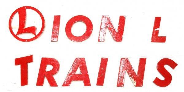 731: Lionel factory dealer display letters