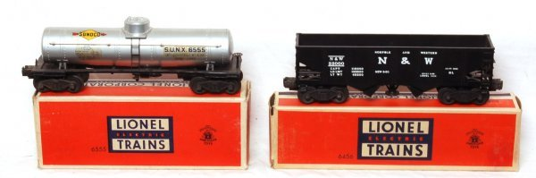 1005: Lionel No. 6555 and 6456 in original boxes