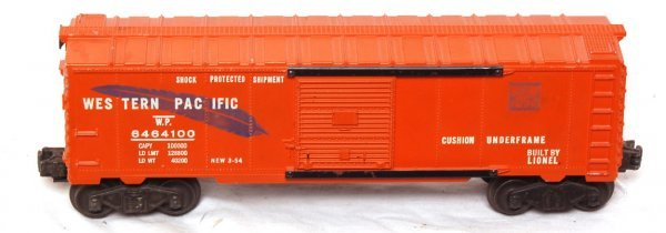 1015: Lionel 6464-100 blue feather boxcar