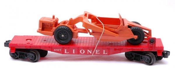1001: Lionel 6817 Flatcar with Allis Chalmers Scraper