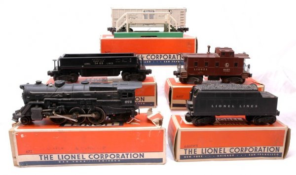 1005: Lionel 675 Steam with 6466WX Tender Boxed