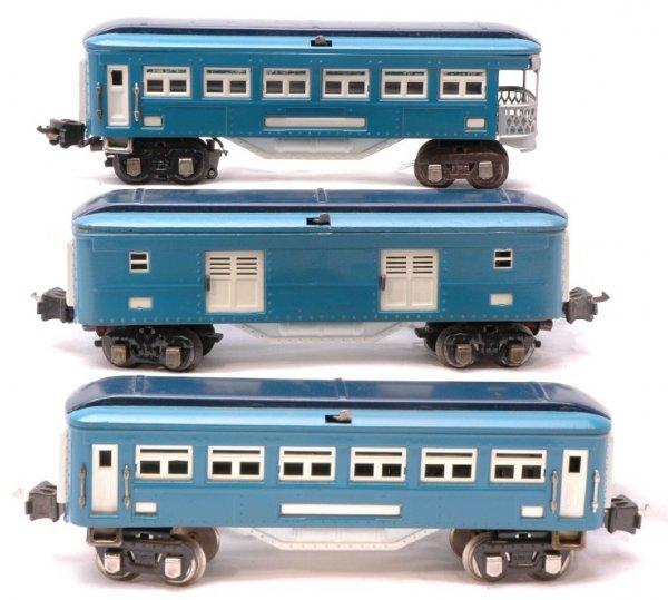 1009: Lionel Blue Comet 2615 613 2614 Passenger Cars