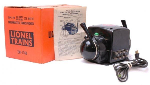 1010: Lionel 275 Watt ZW Transformer in Orange OB
