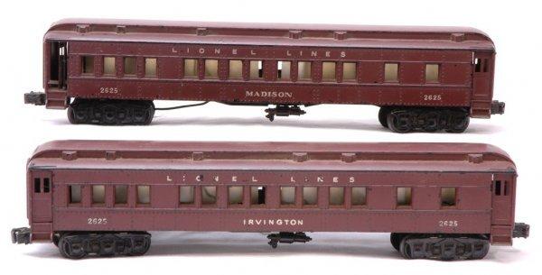 1015: Lionel 2625 Irvington and 2625 Madison Pass Cars