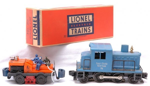 1019: Lionel 50 Gang Car Boxed and 51 Navy Switcher