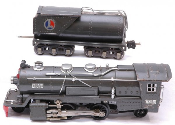 1022: Lionel Gun Metal 263E Steam with 263W Tender