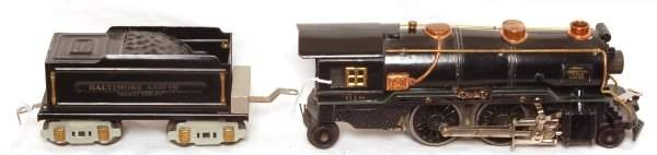 424: American Flyer prewar steam engine and tender