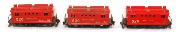 3008: Three Lionel 520 Box Cab Electric