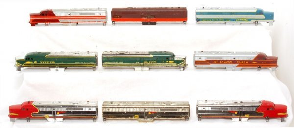 3014: 9- American Flyer diesel A and B unit shells