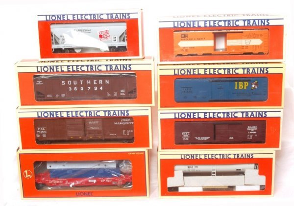 3022: Lionel lot eight pieces of rolling stock in OBs