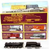 165: MTH Rail King 001 Santa Fe Mohawk 4 cars in OB