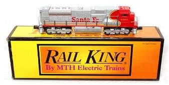 313: MTH Rail King 30-2121-1 Santa Fe SD-90 MAC in OB