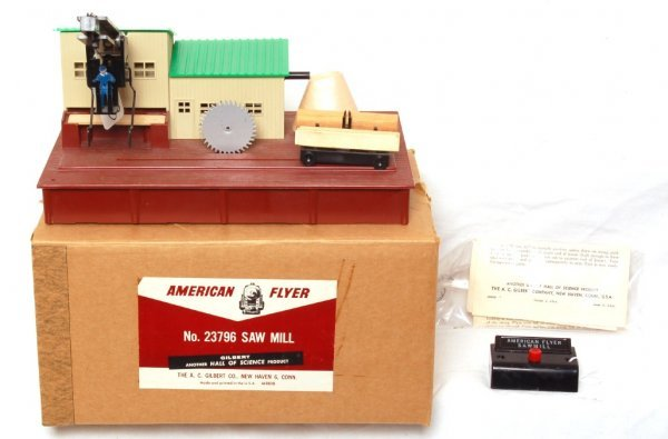 803: Nice American Flyer 23796 sawmill in OB