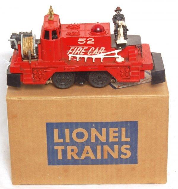 814: Lionel 52 fire car, OB