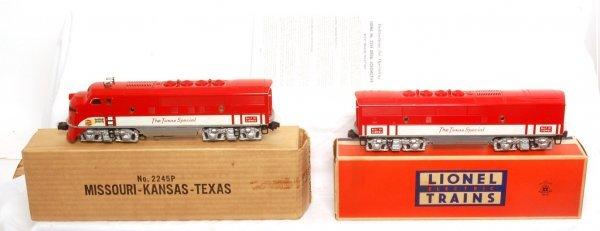816: Nice Lionel 2245 Texas Special F3 AB units, OB