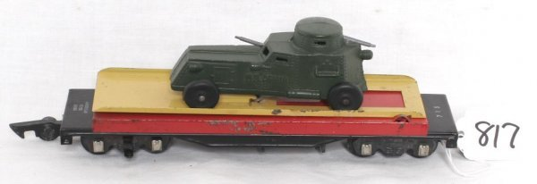 817: American Flyer 715 flatcar with armoured car