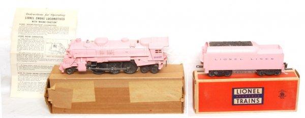 821: Unrun Lionel 2037-500 pink Girls train, tender, OB