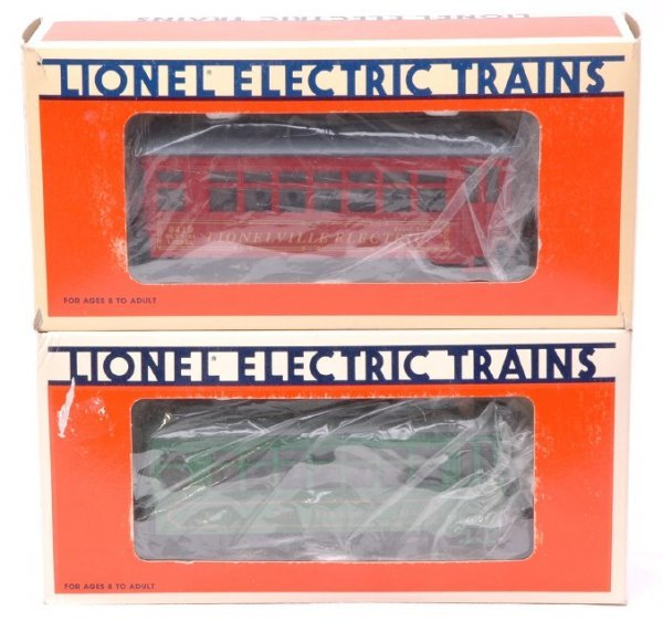 2007: Lionel 18404 18419 Trolleys Like New Boxed