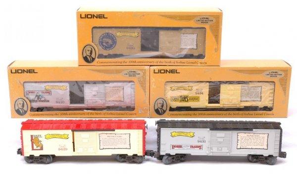 2008: Lionel 9429 9430 9431 9433 9434 MINT Boxed