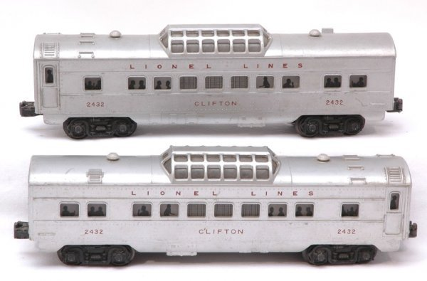 2010: Lionel Two 2432 Clifton Vista Dome Pass Cars