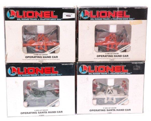 2011: Lionel Two 18401 18403 18408 Handcars MINT OB