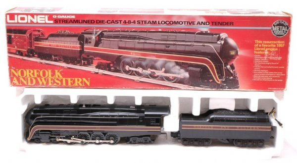 2017: Lionel 8100 N and W 4-8-4 Steam Tender LN OB