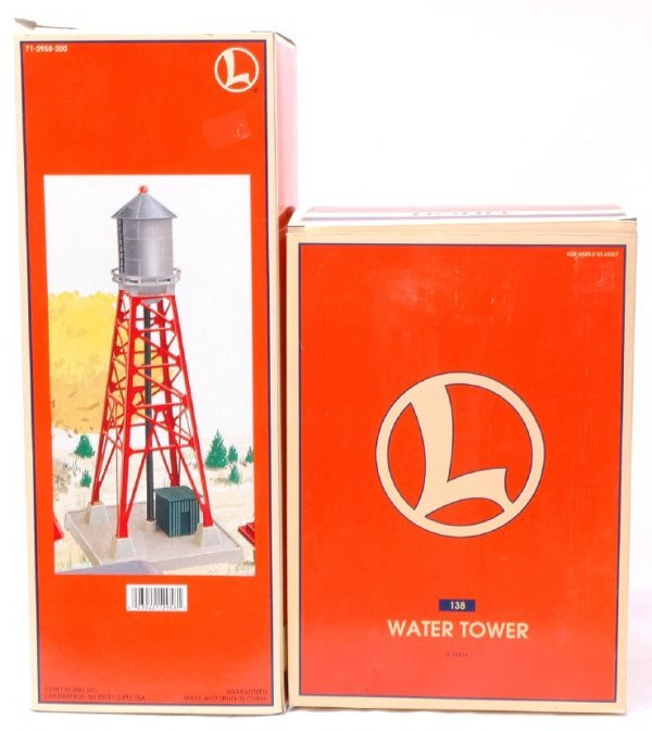 2018: Lionel 12916 12958 Water Towers MINT OB