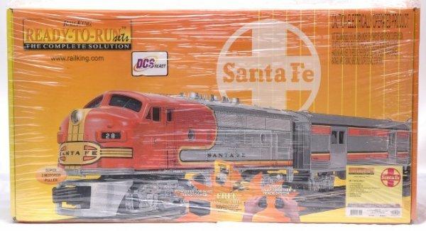 2372: Rail King 30-4099-1 Santa Fe Pass Set MINT Boxed