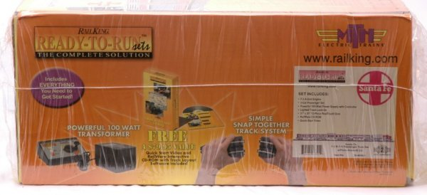 2372: Rail King 30-4099-1 Santa Fe Pass Set MINT Boxed - 2