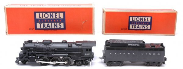 2501: Lionel 2037 Steam with 6026T Tender MINT Boxed