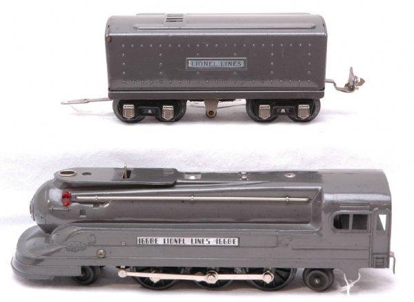2506: Lionel 1668E 1689W Gunmetal Streamlined Loco