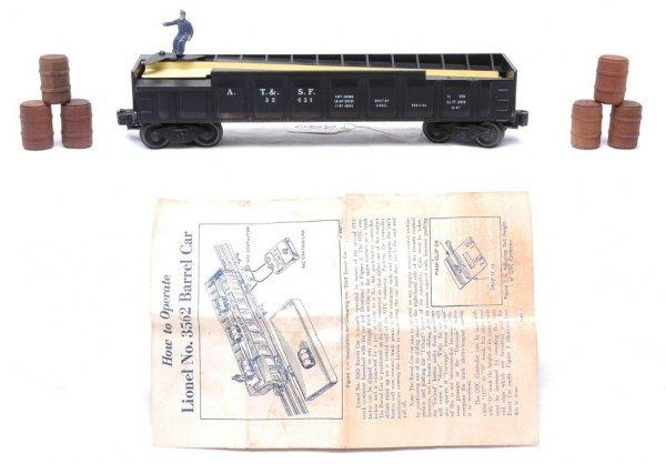 2507: Lionel 3562-1 Black Operating Barrel Car LN