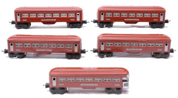 2510: Lionel Tuscan four 2642 Pullmans 2643 Observation