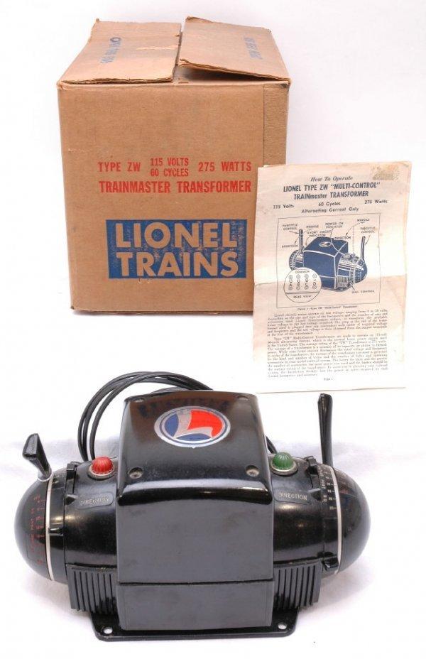 2513: Lionel ZW 275 Watt Transformer Like New Boxed