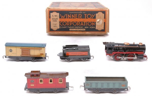 2520: Winner Toy Corp 1006 Freight Set in Set Box