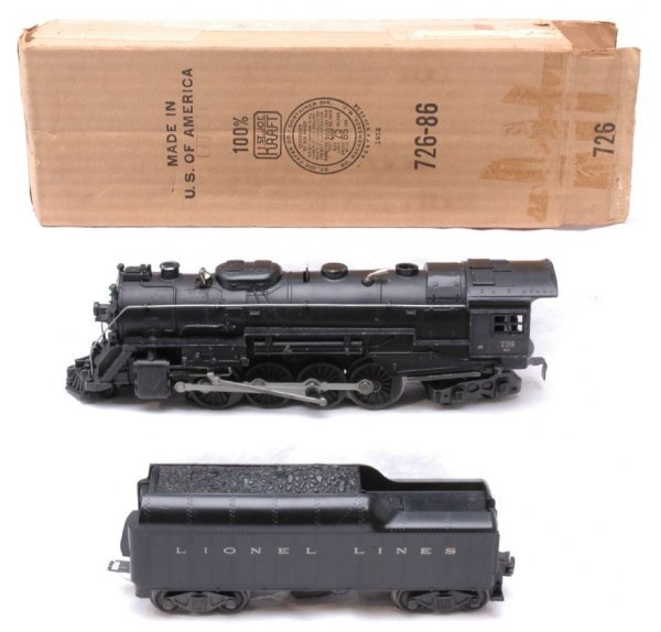 2523: Lionel 726RR Steam with 2046W Tender Boxed