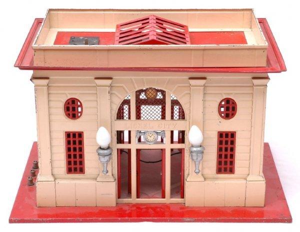 2524: Lionel 115 Passenger Station Red Base Ivory Walls