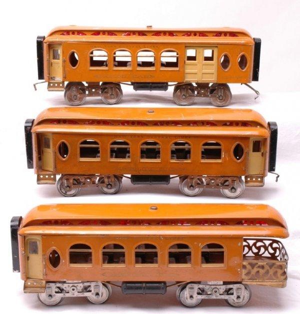 2628: Lionel Orange 19 18 190 Passenger Cars