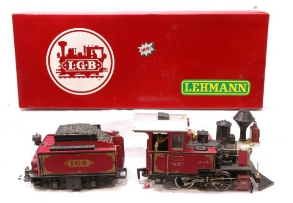 2965: LGB 2217 D Steam Locomotive and Tender Boxed - 2