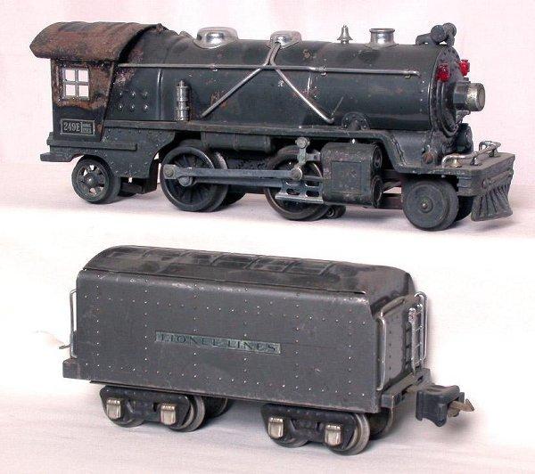 11: Lionel prewar 249E steam and 265W in gray