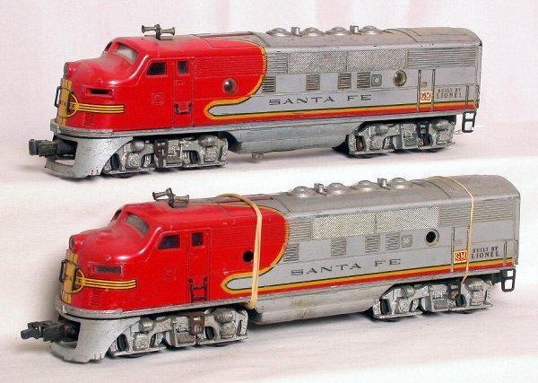 12: Lionel 2343 Santa Fe F3 AA units