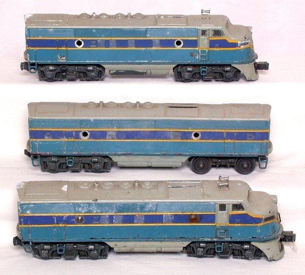 18: Lionel 2333 repainted F3 ABA units