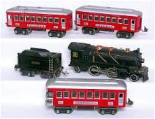 291: Lionel prewar 262, 262T, 610, 610 and 612 in OB