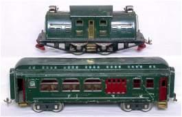 348: Lionel prewar 380, 428, 429 and 430 set in green