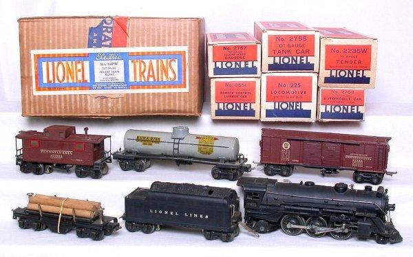 424: Lionel prewar 847W boxed set with 225 loco