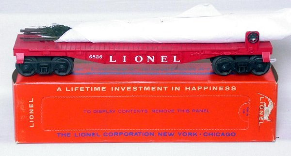 426: Mint Lionel 6826 flat with Christmas trees in box